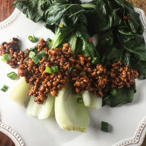 Steamed Bok Choy with Mapo-Style Pork_final