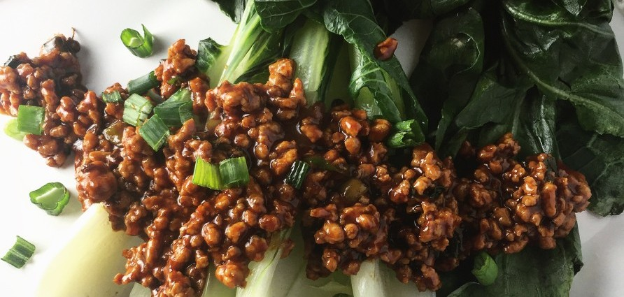Steamed Bok Choy with Mapo-Style Pork_header crop