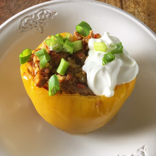 Turkey Stuffed Pepper_full dish