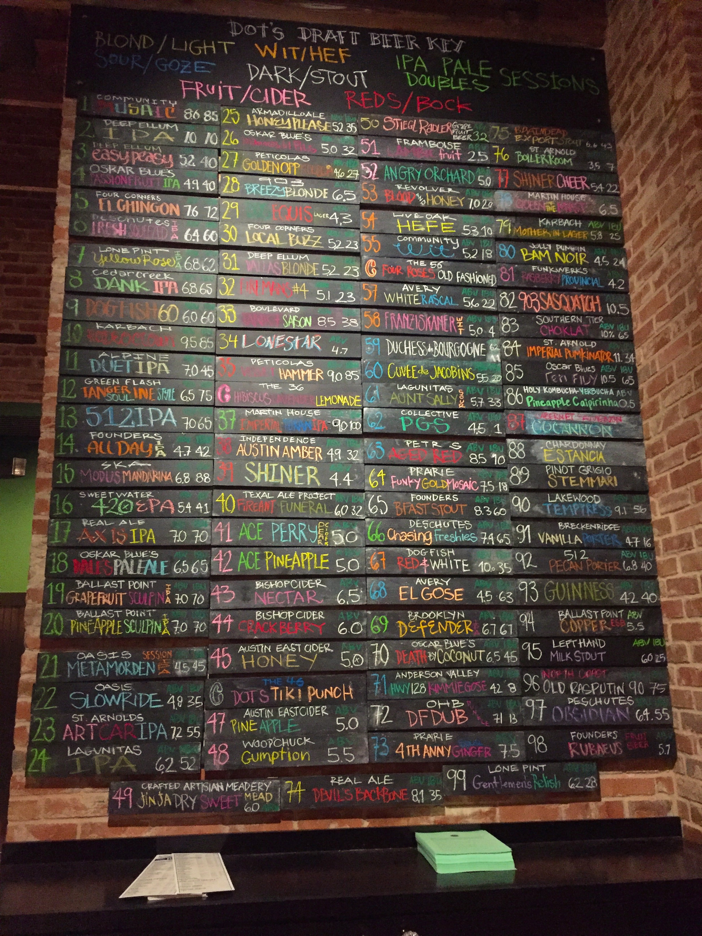 Dots_beer wall